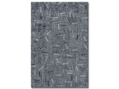 Handmade custom wool rug DEEP BLUE