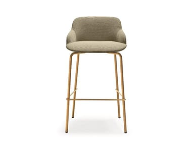 Fabric barstool with footrest DEEP | Stool with footrest