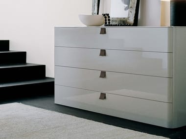 Lacquered wooden chest of drawers DEFILÉ | Lacquered chest of drawers