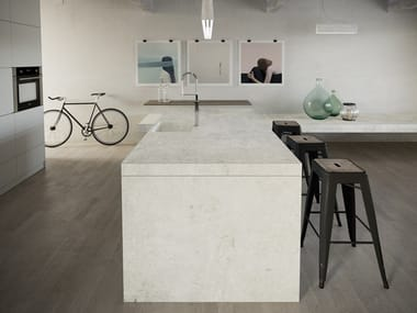 Furniture foil with concrete effect DEKTON® LUNAR