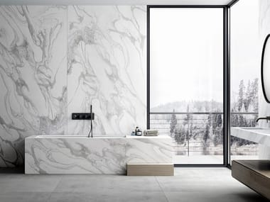 Furniture foil with marble effect DEKTON® LIQUID SKY
