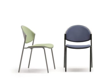 Upholstered stackable fabric reception chair DELFI 083   Fabric chair