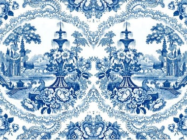 Wallpaper with floral pattern DELFT BAROQUE