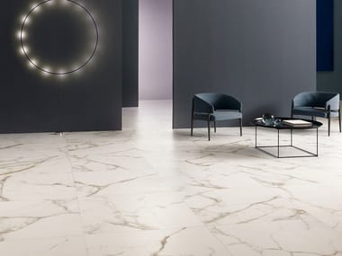 Pavimento/rivestimento in gres porcellanato effetto marmo DELIGHT - CALACATTA ORO