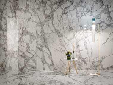 Porcelain stoneware wall/floor tiles with marble effect DELIGHT - INVISIBLE LIGHT