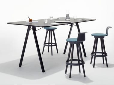 Rectangular melamine meeting table DELTA | Meeting table