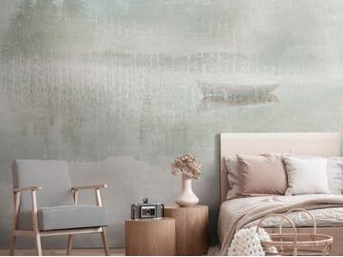 Landscape nonwoven wallpaper strip DELTA