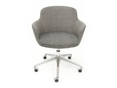Task chair with 5-Spoke base with armrests DENISE   Task chair