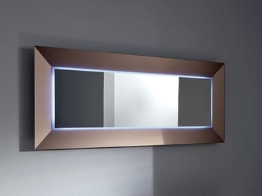 Rectangular mirror with integrated lighting DENVER UP | Rectangular mirror