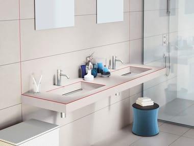 Wall-mounted laminate washbasin DEPTH LAMINATE