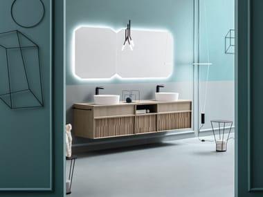 Mobile lavabo sospeso con doppio lavabo da appoggio DES 8