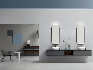Wall-mounted vanity unit with drawers DES 48-49