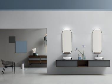 Mobile bagno con piano in vetro DES 48-49