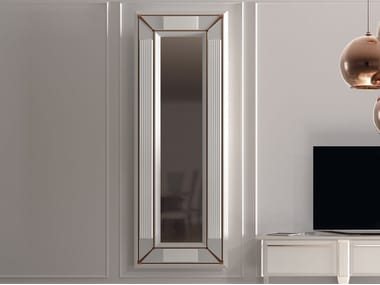 Rectangular wall-mounted framed wooden mirror DESIRE | Rectangular mirror