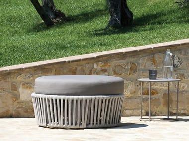 Round fabric garden pouf DÉSIRÉE   Garden pouf