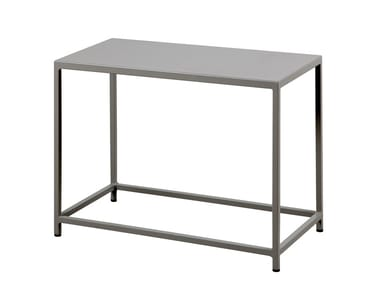 Rectangular metal garden side table DÉSIRÉE | Rectangular coffee table