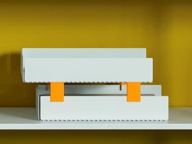 Painted metal desk tray organizer PERFO | Desk tray organizer