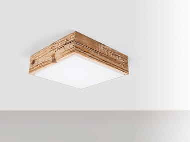 Wood and glass wall lamp / ceiling lamp DIVETRO WOOD 18