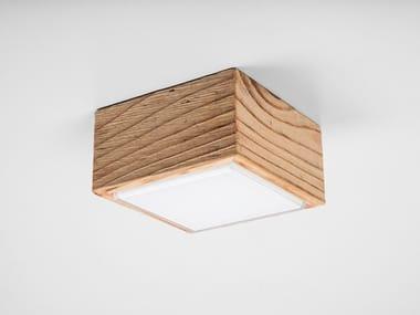 Lampada da parete / lampada da soffitto in legno e vetro DIVETRO WOOD 9