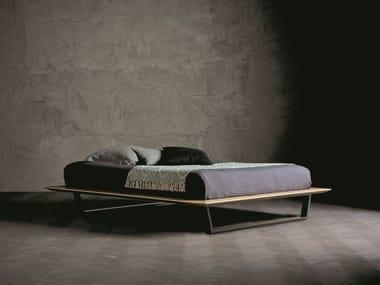 Solid wood double bed DIAMANTE TRAPEZIO