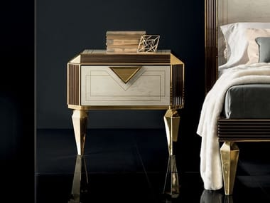 Rectangular bedside table with drawers DIAMANTE | Bedside table