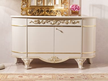 Lacquered sideboard with doors DIAMANTE | Lacquered sideboard