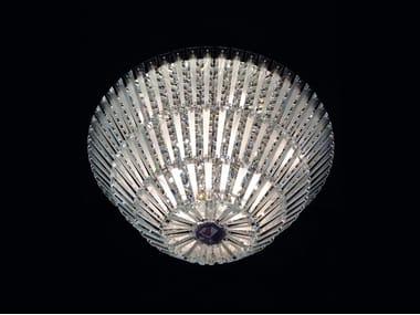 Lampada da soffitto a LED in vetro di Murano DIAMANTE | Lampada da soffitto