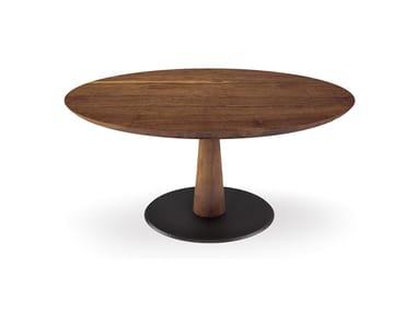 Tavolo rotondo in legno DIAMANTE ROUND | Tavolo in legno