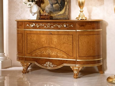 Wood veneer sideboard with doors DIAMANTE | Sideboard