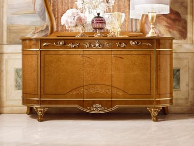 Classic style wood veneer sideboard DIAMANTE | Sideboard with doors