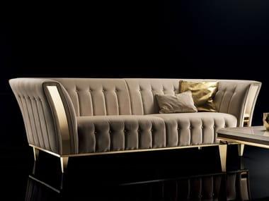 Tufted upholstered 3 seater velvet sofa DIAMANTE | Sofa