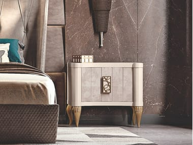 Rectangular wooden bedside table DIAMANTE