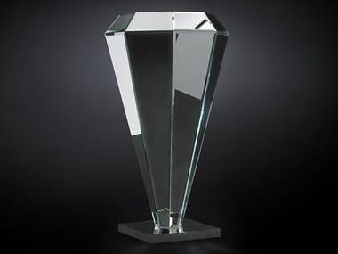 Mirrored glass pedestal DIAMANTE | Mirrored glass pedestal