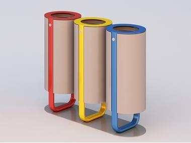 Galvanized steel litter bin for waste sorting DIAPASON TRIS   Litter bin