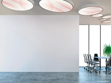 LED ceiling light with dimmer DIAPHANE   Ceiling lamp