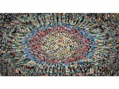 Rectangular fabric rug DIARY
