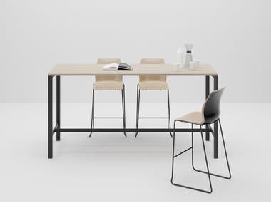 Rectangular wooden high table DIECI | High table