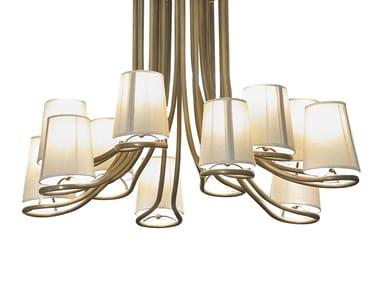 Lampada a sospensione in ottone DILAN | Lampada a sospensione