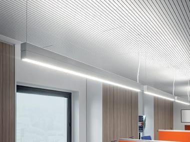 LED direct-indirect light extruded aluminium pendant lamp DINAMICA   Direct-indirect light pendant lamp