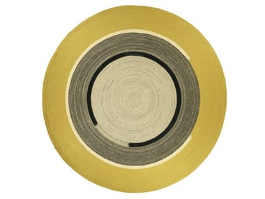 Round PET outdoor rugs DISCO | Round rug