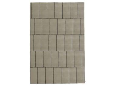 Handmade rectangular wool rug DISCONTINUO