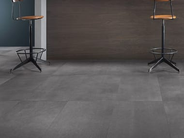 Antibacterial wall/floor tiles with concrete effect DISTRICT ROUTE