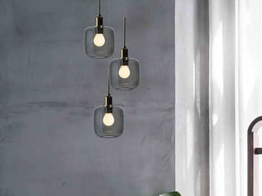 Lampada a sospensione a LED in vetro borosilicato DIVA 3