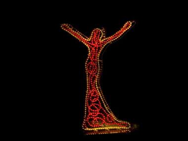 Plexiglass sculpture with light DIVA