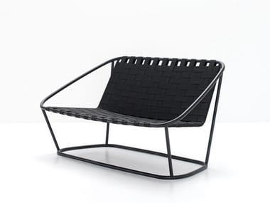 Steel and elastic strapes garden bench SMALL SOFA
