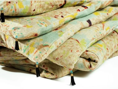 Printed linen quilt DIVINA