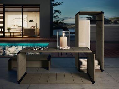 Tavolino da giardino rettangolare in multistrato DIVINA - OUTDOOR SPA | Tavolino