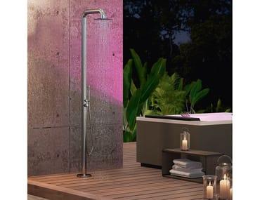 Colonna doccia in acciaio inox con doccetta e soffione DIVINA - OUTDOOR SPA | Colonna doccia