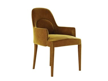 Fabric chair with armrests DIXIE | Chair with armrests