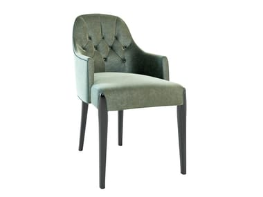 Fabric chair with armrests DIXON | Chair with armrests
